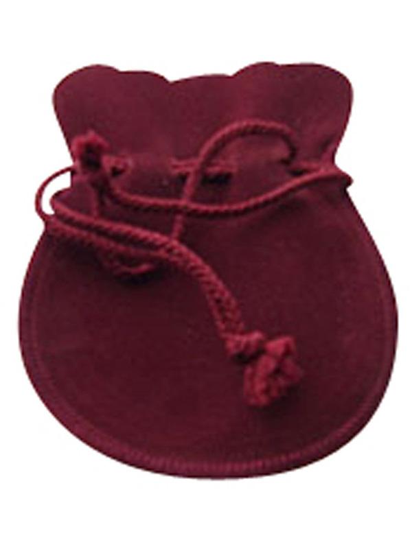 ジュエリーポーチ エンジ スエード調 巾着袋 アクセサリーポーチ 携帯用 ミラージ大サイズ   [jk20050523-04]