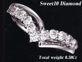[WMDM-1B]スウィート10ダイヤモンド【スイートテンプラチナリング】