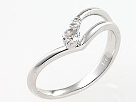 誕生石リング6月の誕生石ブルームーンストーン&ダイヤモンド指輪