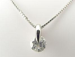 ☆ダイヤモンド・プラチナ・ネックレス[0.3カラット]1点留めダイヤネック