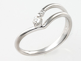 誕生石リング4月の誕生石 ダイヤ&ダイヤモンド指輪