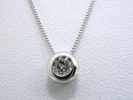 ダイヤモンド・プラチナ・ネックレス[一粒ダイヤネック]♪