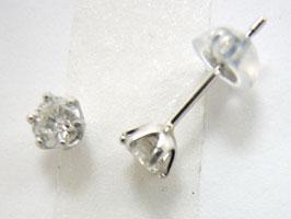 プラチナ Tタイプ爪ダイヤモンド ピアス 彼女  誕生日  ジュエリー アクセサリー ∞ jka810