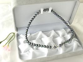黒本真珠7~7.5ミリネックレス(パール)★