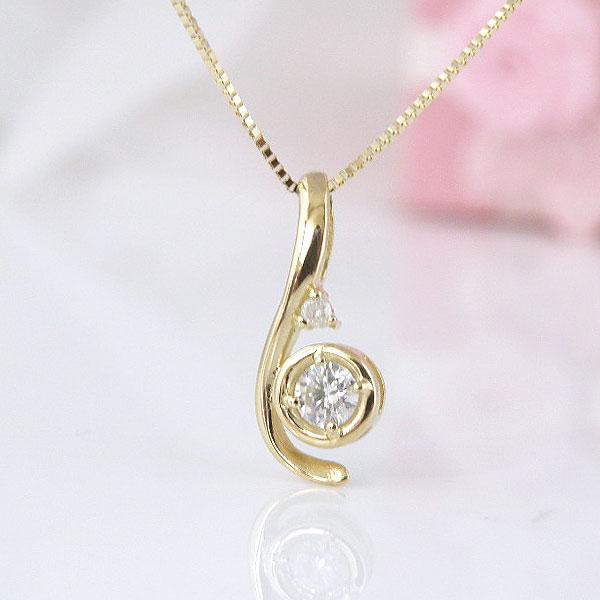18金ダイヤモンドネックレス 彼女  誕生日  ジュエリー アクセサリー ∞ y110109