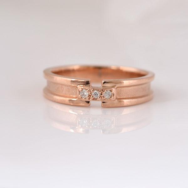 ピンキーリング ダイヤモンド ピンクゴールド 小指指輪 y120063p