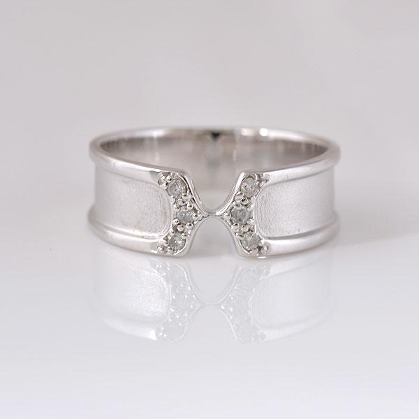 ピンキーリング ダイヤモンド ホワイトゴールド 小指指輪 y120064w