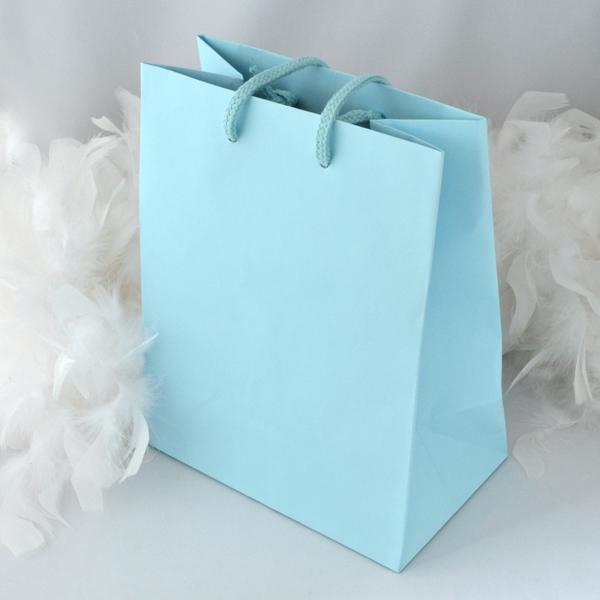 手提袋 きれいなブルー 手提げ紙袋 紙袋 手提げ バック