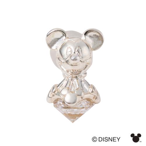 【white clover/Disney Series】ディズニー/ミッキーマウス/シルバー立体ピアス&オリジナルBOX DI012M