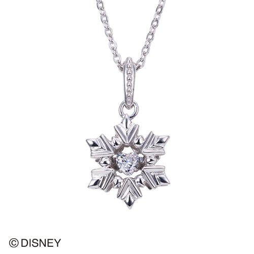 【white clover/Disney Series】ディズニー/アナと雪の女王/FROZEN/雪の結晶/スノーフレークネックレス/シルバー&オルゴール付きジュエリーBOX DI300RD[納期1ヵ月]