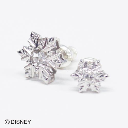 【white clover/Disney Series】ディズニー/アナと雪の女王/FROZEN/雪の結晶/スノーフレークピアス2個set/シルバー&オルゴール付きジュエリーBOX DI302RD