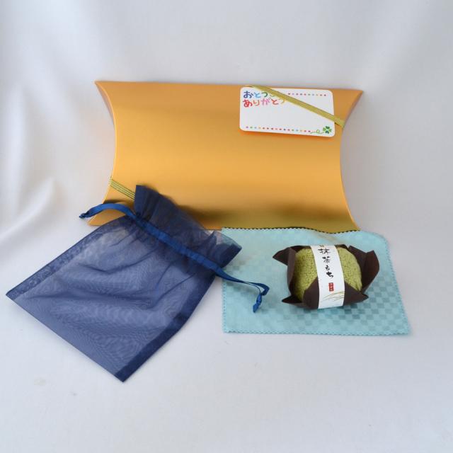 父の日 父 プレゼント お手軽 ギフト お磨きクロス ポーチ 和菓子風 ハンカチ セット y170082