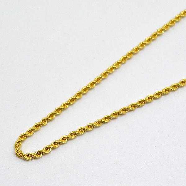 ロープ ネックレス チェーン K18 50cm 彼女 誕生日 ジュエリー アクセサリー y170162