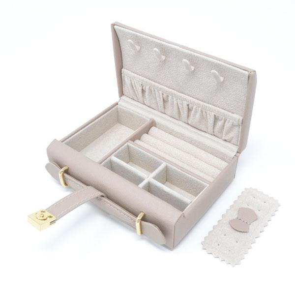 ジュエリー ケース ジュエリー ボックス ピンク ベージュ 宝石箱 バック型 持ち運び 便利 y180140