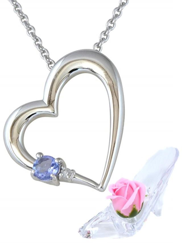 彼女に人気 誕生石 ネックレス タンザナイト ダイヤモンド ペンダント ネックレス 12月 誕生石 ALWAYS 誕生日プレゼント ソープフラワー セット y180192