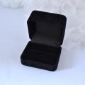 黒ブラック高級調 リング指輪ケース 外箱付 ラッピング袋付