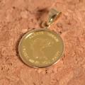 天使 コインペンダント エンジェル コイン 24金 枠 18金 1/25オンス y160565