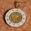 コインペンダント エンジェル コイン 24金 枠 18金 1/25オンス y160568