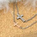 チタン ネックレス ファイテン fe-fe phiten フェフェ ペア ペンダントファッション性の高い横型 クロス ダイヤモンド ネックレス FP-25 , FP-26 y170128