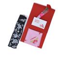 母の日 ギフト プレゼント 日傘 バラ模様 (日傘といつもありがとうハンカチ ラッピング済セット) y180057