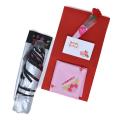 母の日 プレゼント 日傘 晴雨兼用 バラ模様 軽い いつもありがとう 刻印 ハンカチ (日傘とハンカチ ラッピング済セット) y180059