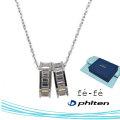 ネックレス K10WG ファイテン fe-fe phiten フェフェ FPJ-07 y190437