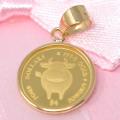 コイン COW 牛 2021 24金 枠 18金 1/30オンス y200542