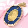 コイン 聖母 マリア 24金 K24 純金 枠18金 K18 メンズ ゴールド 男性 プレゼント ギフト y200545
