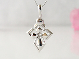 K18WG(ホワイトゴールド)ロングラインダイヤモンドネックレス