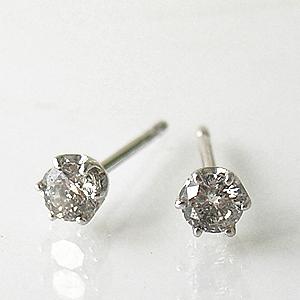 プラチナダイヤモンドピアス0.2Ct  y070041
