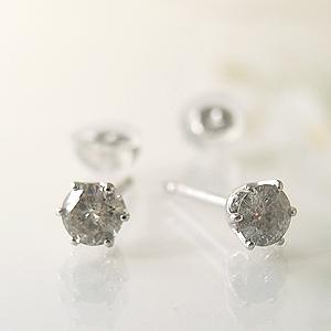 プラチナ・ダイヤモンド・ピアス0.3Ct y070042