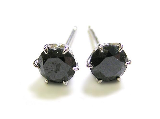 ブラックダイヤモンドプラチナピアス(BD 1.00ctUP)