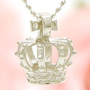 ホワイトプリンセス おしゃれな王冠ダイヤモンドネックレス[納期1カ月] y070236