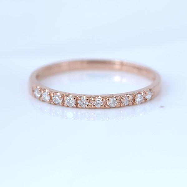 ピンキー ピンキーリング シンプルダイヤモンド ピンクゴールド 小指指輪 y120052p
