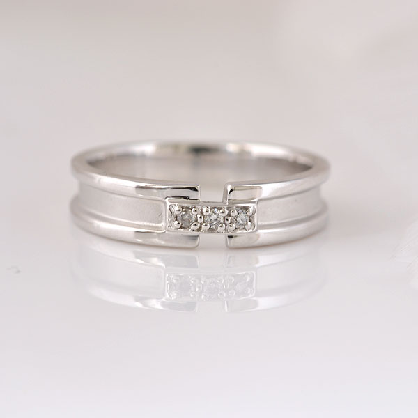 ピンキーリング ダイヤモンド ホワイトゴールド 小指指輪 y120063w