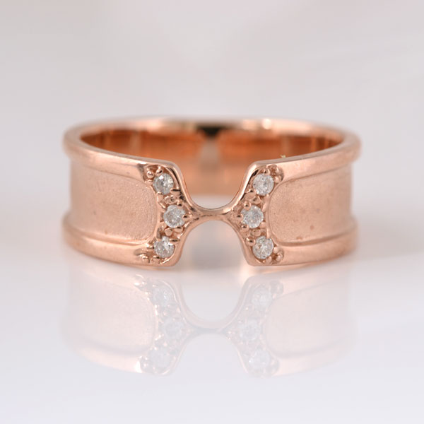 ピンキーリング ダイヤモンド ピンクゴールド 小指指輪 y120064p