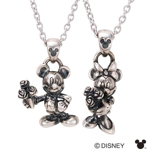 【white clover/Disney Series】ディズニー/ミッキー&ミニー/立体ペアネックレス&オリジナルBOX DI003L&DI003M