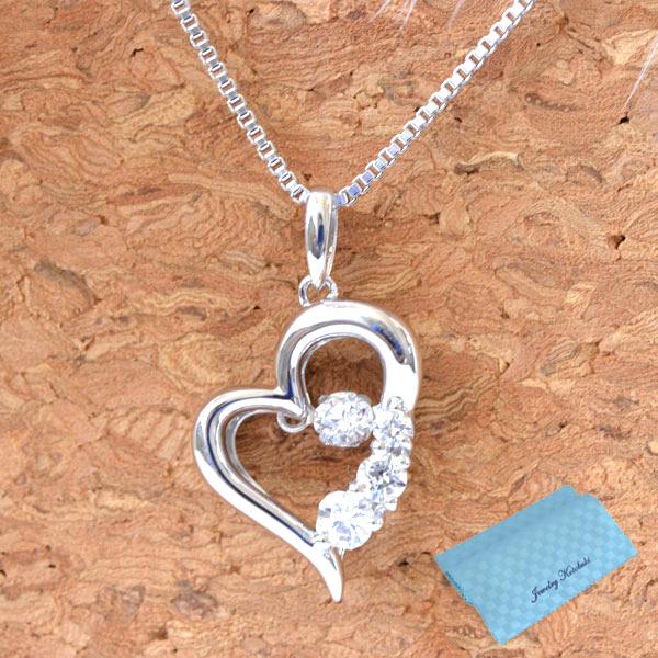 ダンシングストーン クロスフォー ニューヨーク ネックレス 揺れるネックレス D-3stone Heart NYP-585 y150106