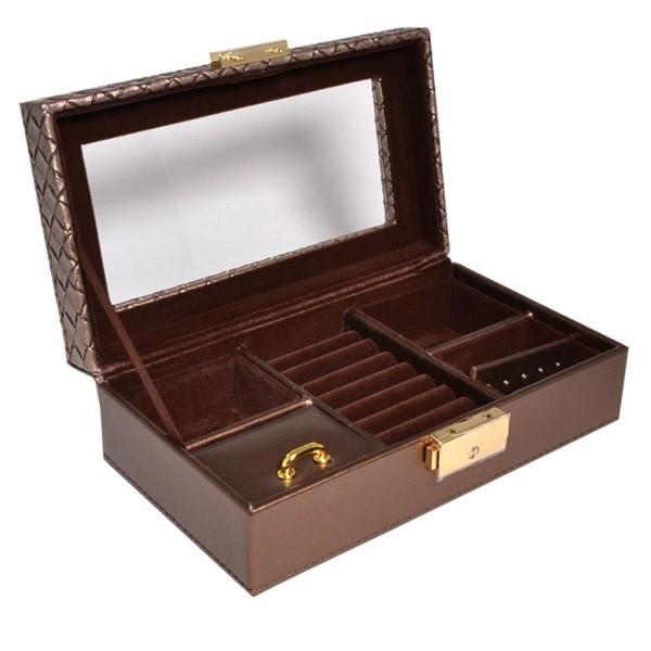 宝石箱 ジュエリー ボックス 落ち着いた ブロンズ 色合 (お磨きクロス付) y160520