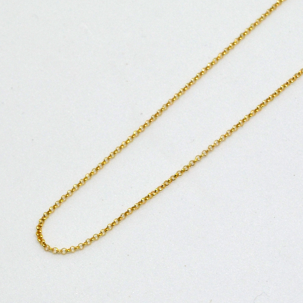 丸アズキ ネックレス チェーン K18 40cm 彼女 誕生日 ジュエリー アクセサリー y170144