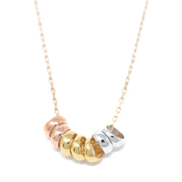 ラッキーリング Lucky Ring 7つのラッキーリング( 幸福 ) ネックレス イエロー ピンク ホワイト 色 y180101