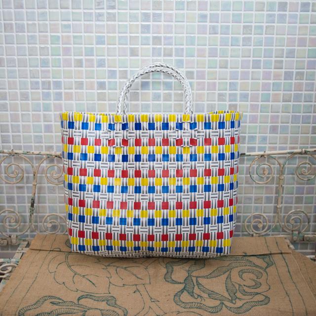 A811 PPバンドのプラカゴ M (黄色×青×赤×グレー×白)