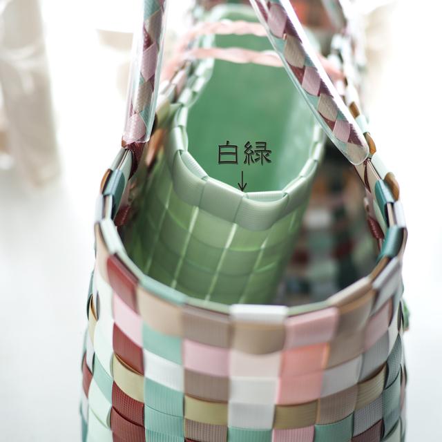 日本製手芸用PPバンド ,白緑