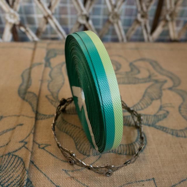 エコプラPPかごバンド(若草黄緑×緑)