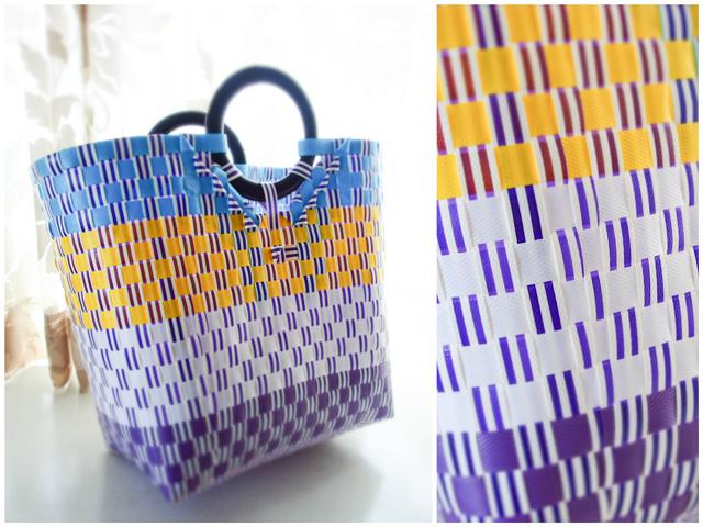 d00189  わっかのプラカゴ M (黄色×紫)