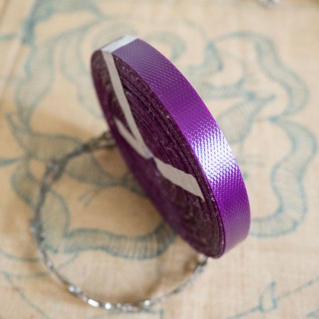 エコプラPPかごバンド 赤紫