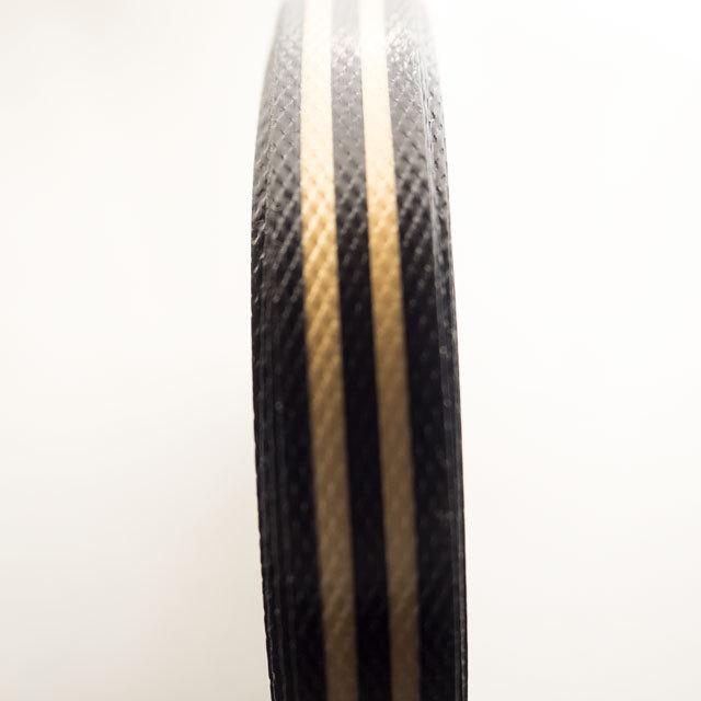 エコプラPPかごバンド,黒+金色