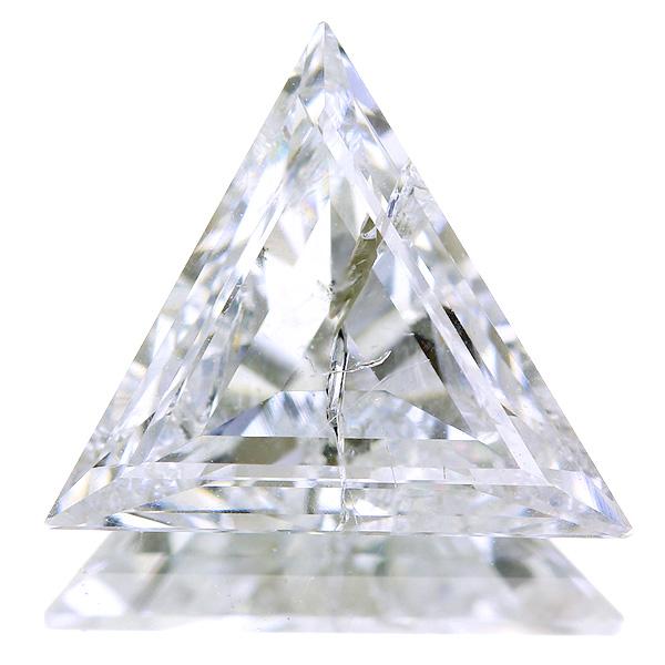 1.250ct I I2 トリリアントカット ダイヤモンドルース※中央宝石研究所ソーティングシート付