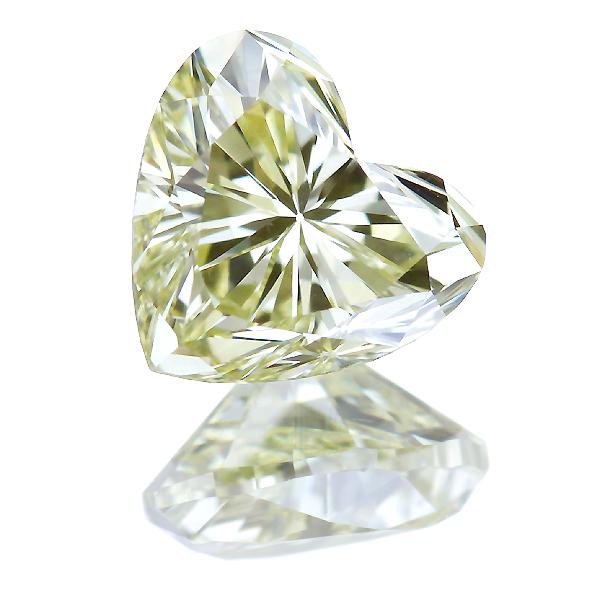 FANCY LIGHT YELLOW SI-1 ハートシェイプ イエローダイヤモンド 0.773ct