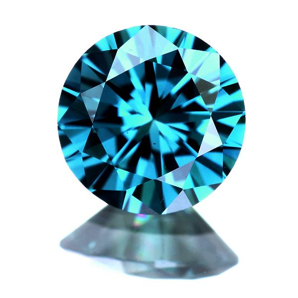 0.501ct FANCY DEEP GREENISH BLUE VS-1 (人為的照射) ブルーダイヤモンド ルース